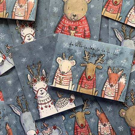 Buy Christmas Greetings Cards from Helen Wiseman Illustration