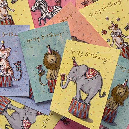 Buy Circus Greetings Cards from Helen Wiseman Illustration