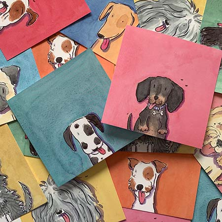 Buy Dogs Greetings Cards from Helen Wiseman Illustration