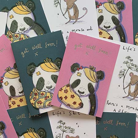 Buy Get Well Soon Greetings Cards from Helen Wiseman Illustration