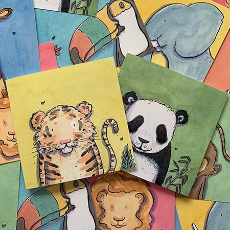 Buy Jungle Greetings Cards from Helen Wiseman Illustration