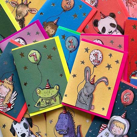 Buy Kids Age Greetings Cards from Helen Wiseman Illustration