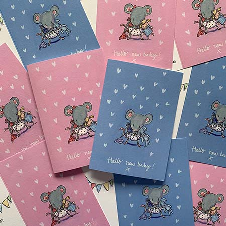 Buy New Baby Cards from Helen Wiseman Illustration