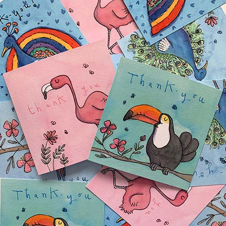 Buy Tropical Thankyou Greetings Cards from Helen Wiseman Illustration