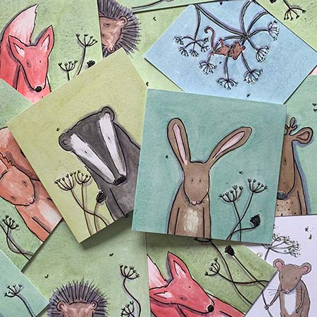 Buy Woodland Greetings Cards from Helen Wiseman Illustration